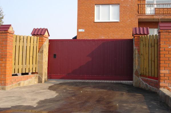 Откатные ворота под ключ цена с установкой в Павловском Посаде